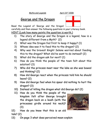 Adapted St.George and the Dragon