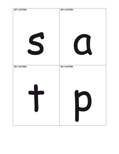 Letters and Sounds - Letter sets 1-7 cards