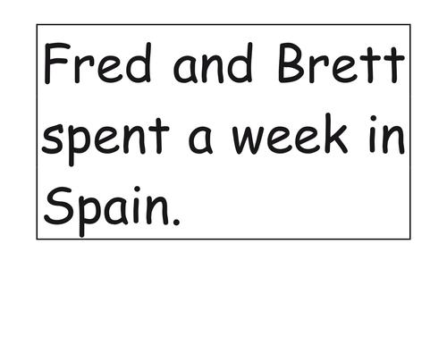 Reading Fluency Sentences