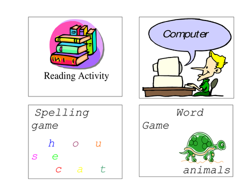 Literacy tasks/ centers- activity pictures