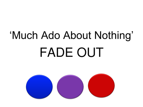 MUCH ADO ABOUT NOTHING - LANGUAGE FOCUS