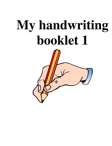 Handwriting booklets