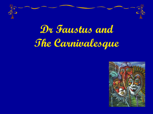 Doctor Faustus and the Carnivalesque