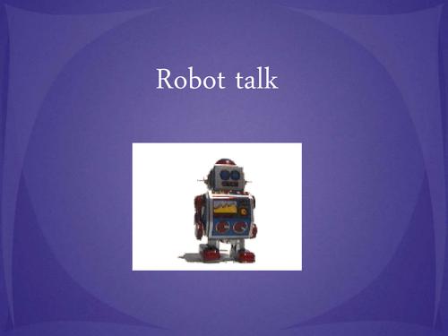 robot talk  - ending phonemes