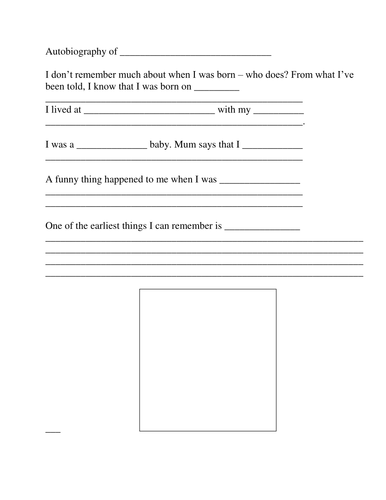 Write your autobiography