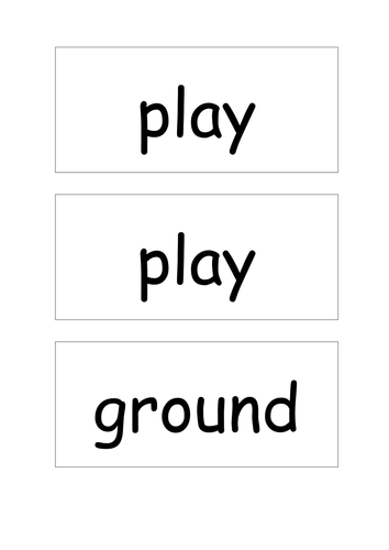 Compound words matching cards (basic)