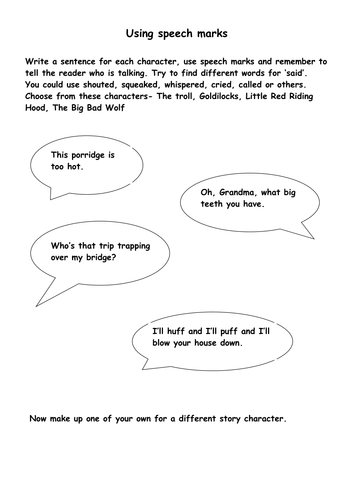 Storybook quotation marks