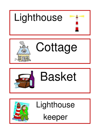 Lighthouse Keeper's Lunch Labels
