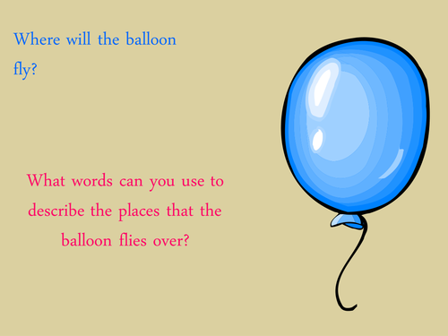 Where does the balloon travel?