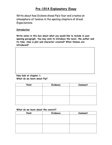 Great Expectations Explanatory Essay