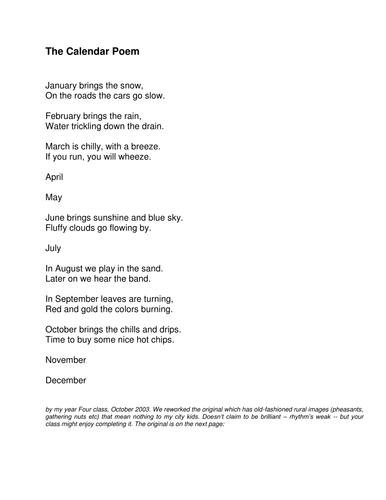 Poem: January brings the snow (city version)