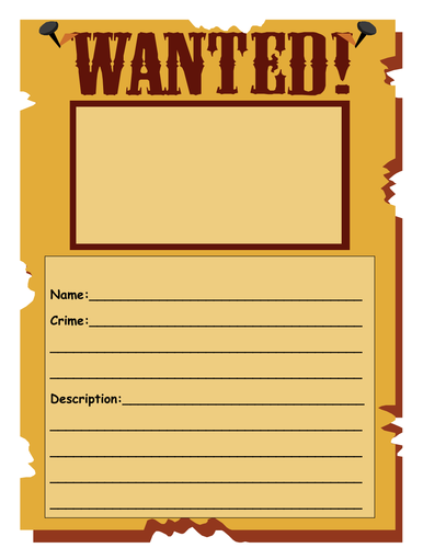 Wanted poster template by shelly360 teaching resources tes for Wanted pirate poster template