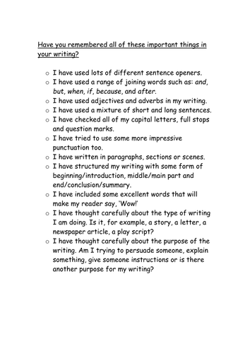 Generic writing tips