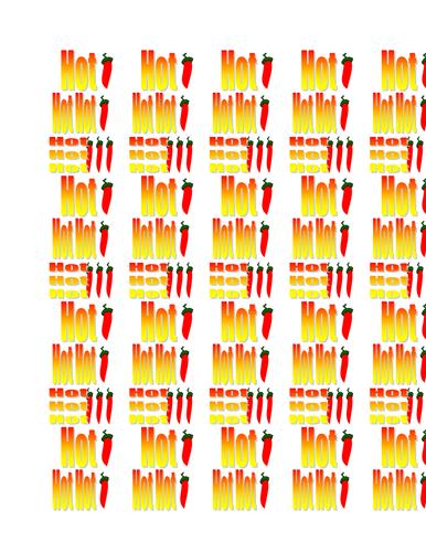Hot Sentences Chilli Stickers