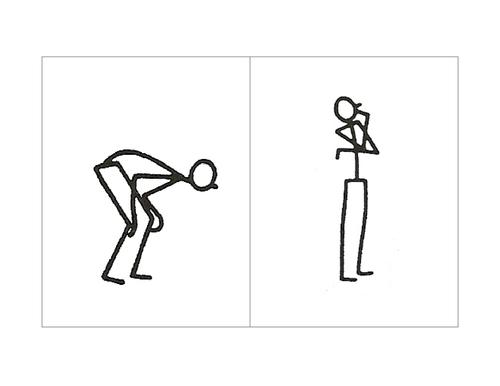Body Language Flash Card