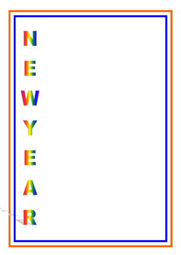 New Year Acrostic Poem Template