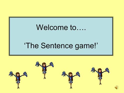 Sentence Starter Game