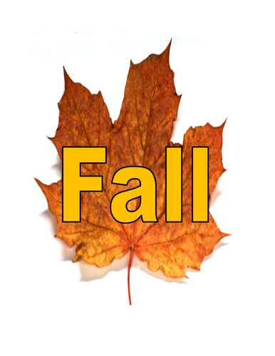 Fall topic words for display