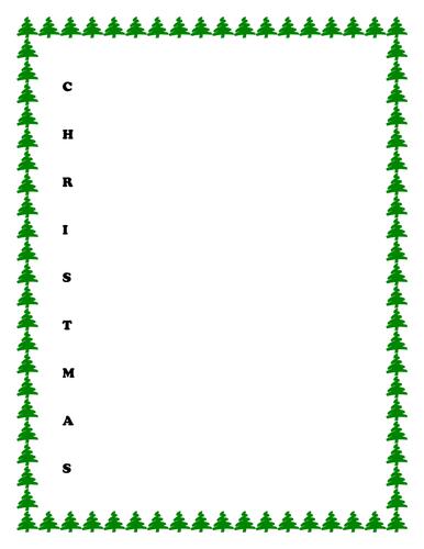 Acrostic poem template - Christmas