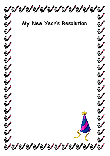 New Year's Resolution Writing Template