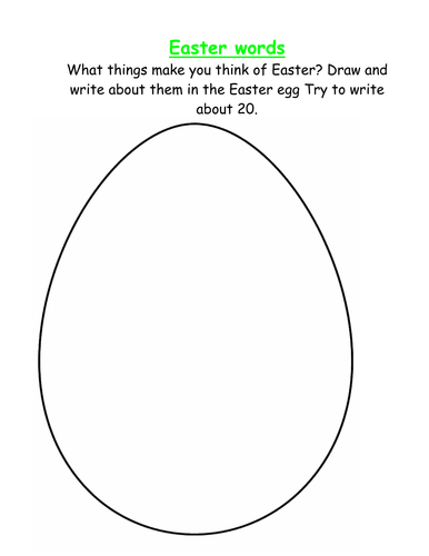 What Easter words can you think of?