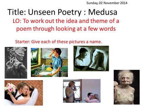 Medusa poem introduction lesson and handout