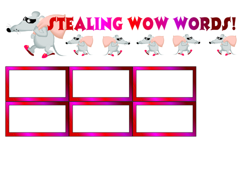 Stealing WOW Words Cutouts