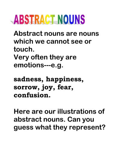 Abstract Nouns Explanation