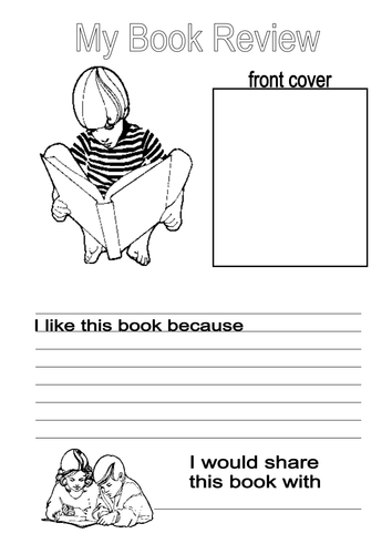 Book Cover Template Docx : Simple book review booklet by emmagriffiths teaching