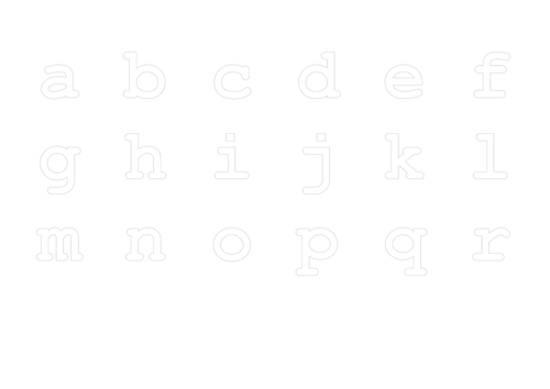 Lower case letter formation practice