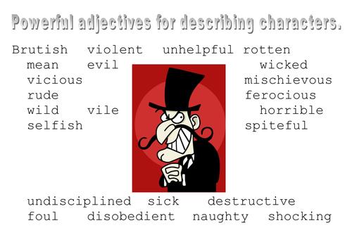 Character Adjective Help Mats/Creative Writing