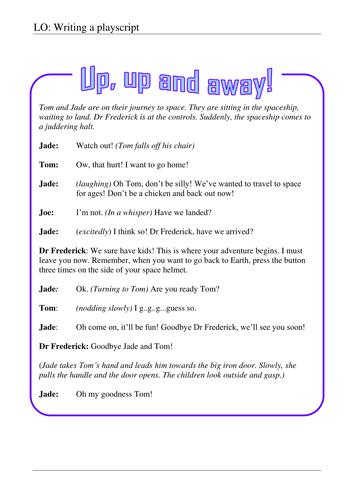'Up; up & away!' - Playscript