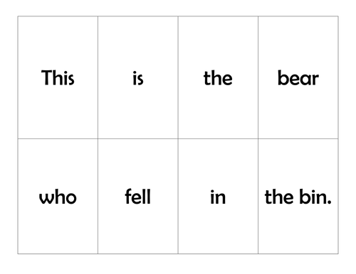 Book Based game: This is the Bear
