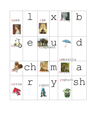 Initial Sound Phonic Dominoes