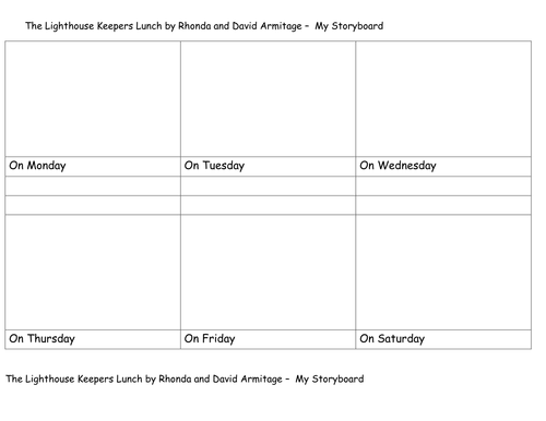 The Lighthouse Keepers Lunch storyboard template