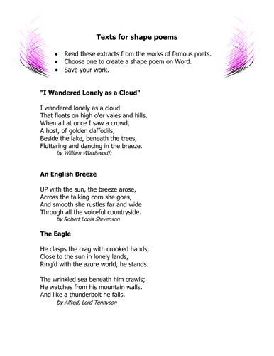 6th grade poetry by shel200 teaching resources. Black Bedroom Furniture Sets. Home Design Ideas