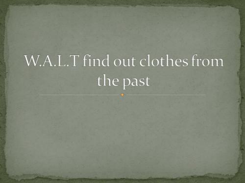 Clothes Through Time