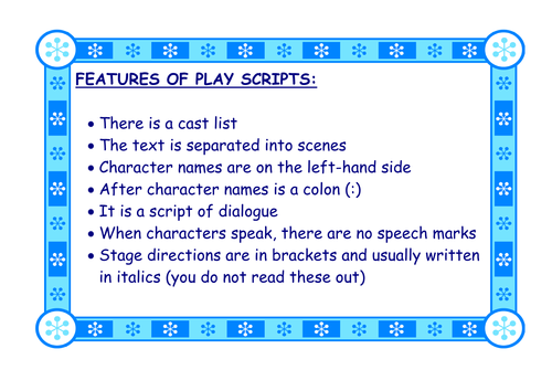 Features of different genres of text