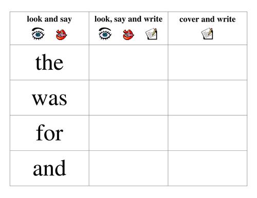 HF Word Practice Board