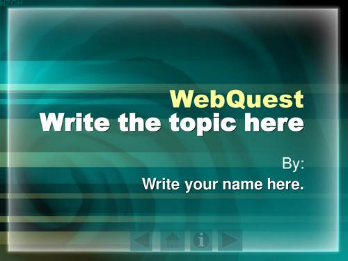 WebQuest Template