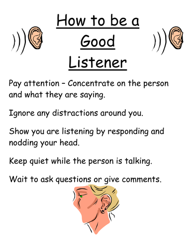 How to be a good listener/speaker