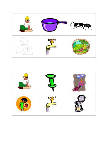 picture word bingo