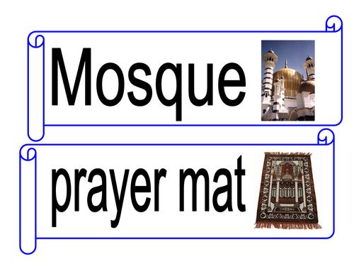 Muslim/Islam word cards