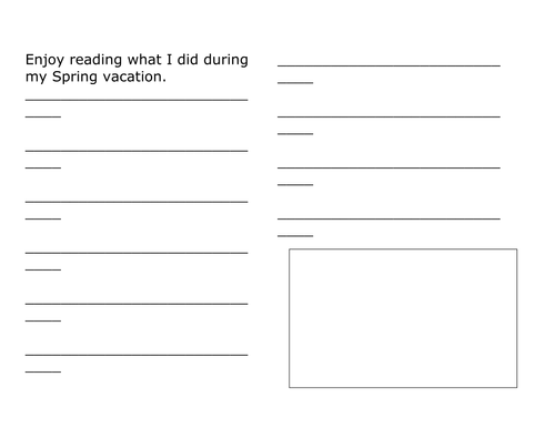 WRITING TEMPLATES FOR AFTER VACATION