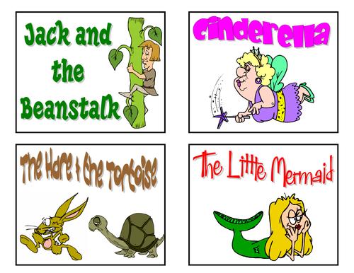 Fairy Tale Jumbo Dice Cards