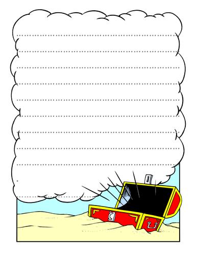 Pirate writing frame