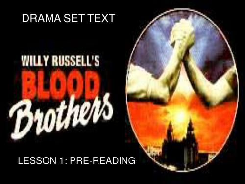 'Blood Brothers' Scheme of Work