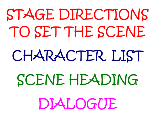Features of playscripts