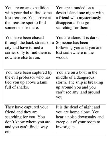 Suspense Scenarios