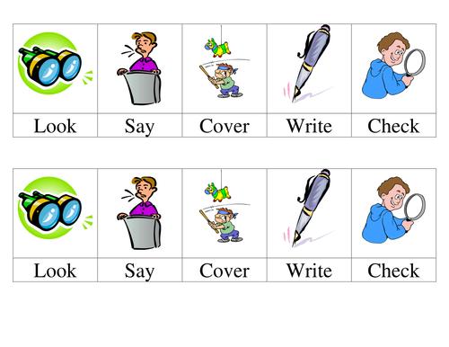 Mini Look; Say; Cover; Write; Check